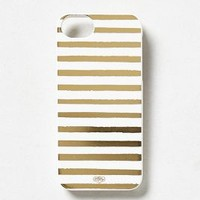 Metallic Stripes iPhone 5 Case by Anthropologie Black One Size Jewelry