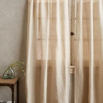 Cadence Curtain by Anthropologie Neutral