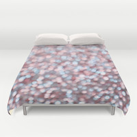 Holiday Cheer Pastel Duvet Cover by Lisa Argyropoulos