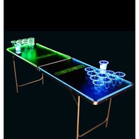 6.5' Glowing Beer Pong Table