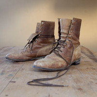 sz10 mens lace up vintage roper boots by diamond j