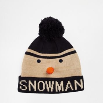 New Look Snowman Beanie