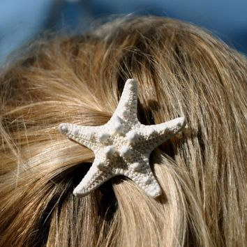 Starfish Hair Barrette Knobby Starfish Hair Clip-Starfish Beach Weddings-Mermaid Hair-Mermaid Costumes-Beach Hair