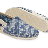 THE TOMS ANIMAL INITIATIVE ELEPHANT BLUE MEN'S CLASSIC