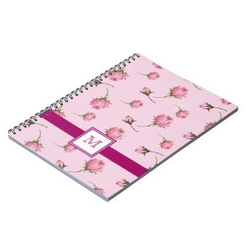Pretty Pink Shabby Chic Feminine Rosebuds Journal