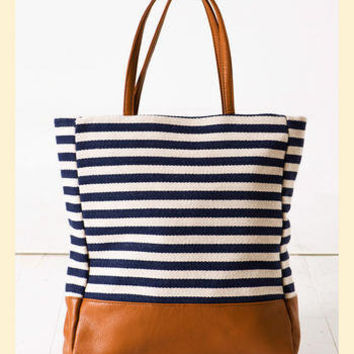 Stripe Story Tote