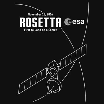 Rosetta -- First to Land on a Comet Unisex T-Shirt
