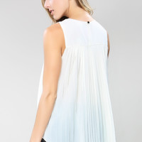 Spangle Neckline Dressy Top