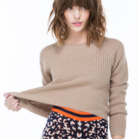 Getting Warmer Knit Crop Sweater