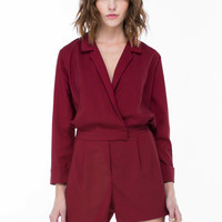 Business Casual Collared Romper