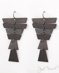 Pynk Krush — Gunmetal Dangle Earrings