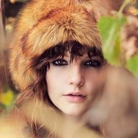 Faux Fur Toque Hat- Brown One