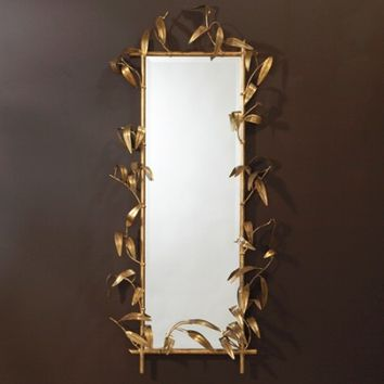Global Views Bamboo Mirror W/Gold Finish - Opulentitems.com
