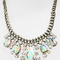 Junior Women's BP. Crystal Woven Chain Frontal Necklace