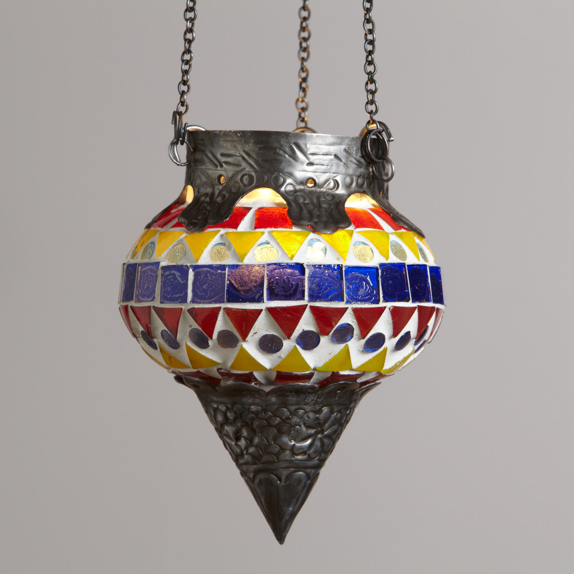 Small Tessera Mosaic Hanging Candleholder | World Market
