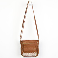 T-Shirt & Jeans Crochet Trim Crossbody Bag Cognac One Size For Women 23511540901