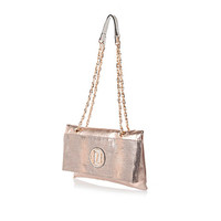 River Island Womens Gold fold over chain strap bag