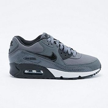 Nike Air Max 90 Trainers in Black Croc - Urban Outfitters