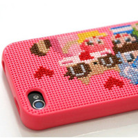 welcome connect design - Cross-stitch your own iPod 4 case