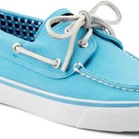 Sperry Top-Sider Bahama Canvas 2-Eye Boat Shoe TurquoiseCanvas, Size 9.5M  Women's Shoes