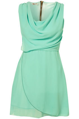 **Cowl Neck Wrap Dress by Wal G - Dresses  - Clothing