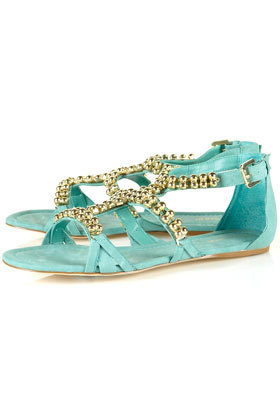 HIGH Beaded Gladiator Sandals - Shoes