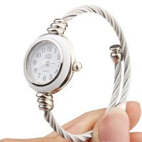 buy cheap Quartz Watch with Metal Rope Watch Strap - White Face wholesale on China Gadget Land