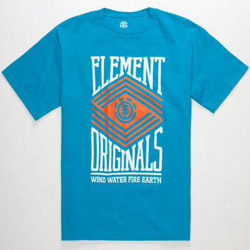 Element Zig Zag Boys T-Shirt Teal Green  In Sizes