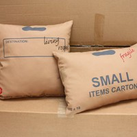 Supermarket - Carton pillows from studioooij