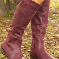 Through The Looking Glass Boots: Plum