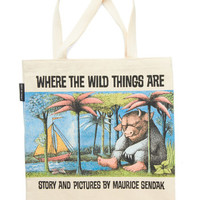 Out of Print Travel, Scholastic Bookshelf Bandit Tote in Max