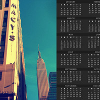 Macys and the Empire - 2015 Fine Art Photography One Page Calendar - Individually or as a set of 4