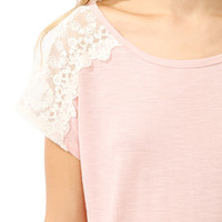 Embroidered Shoulder Tee