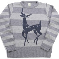 The Perfect Eco Sweater: Knit, Sewn & Made in the USA from Recycled Material: Deer Sweater
