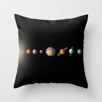 Solar System Throw Pillow by Terry Fan
