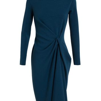 LANVIN   Tuck-Front Wool Dress   Browns fashion & designer clothes & clothing