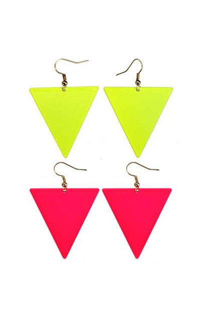 Neon Color Triangle Earrings [AE1003] - $11.99 :