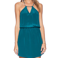 Rory Beca Lara Halter Keyhole Dress in Teal