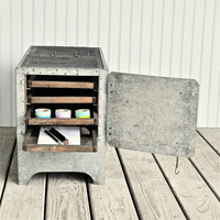 Industrial Chic Farm Cabinet by oldcrowfarm on Etsy