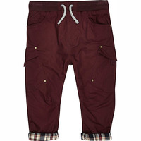 River Island Mini boys red woven chester pants