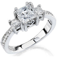 Engagement Rings - .59 ctw. 14K Gold Diamond Engagement Ring