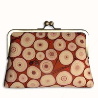 SALE Rusty Tree Rings Clutch Purse by retrospettive on Etsy