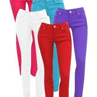 ALMOST FAMOUS COLORED SKINNY JEANS