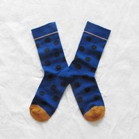 Blue Spotty Bonne Maison Cotton Socks