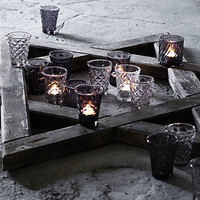 Facet Glass Votive
