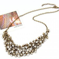 Clear Stones Necklace@11031665