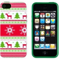 iPhone 5 / 5S Case, DandyCase PERFECT PATTERN *No Chip/No Peel* Flexible Slim Case Cover for Apple iPhone 5 / 5S - LIFETIME WARRANTY [Vintage Christmas]