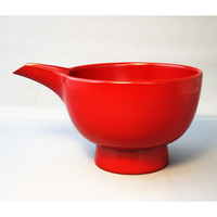 Iwate Prefecture Joboji Lacquerware Takashi Iwadate 5-Sun Katakuchi Bowl, Vermillion