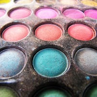 Colorful makeup - 8x10 - bright dress up - matte