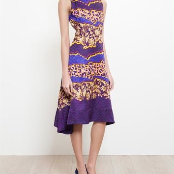 PETER PILOTTO   Abstract Floral Silk Dress   Browns fashion & designer clothes & clothing